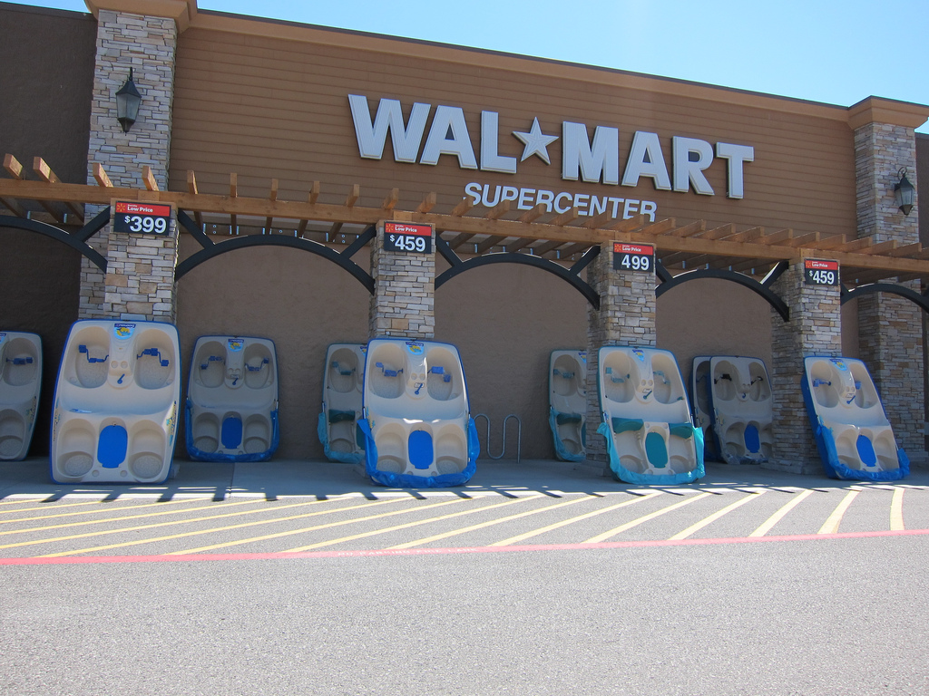 This Wal-mart sells paddleboats!