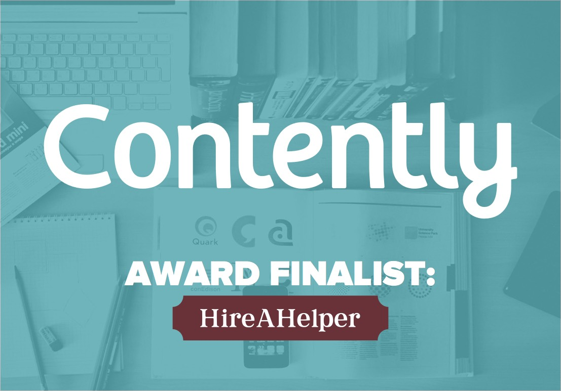 Contently Content Marketing Awards Finalist - HireAHelper